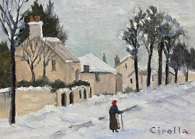 Painting - European Winter by Jan Cipolla
