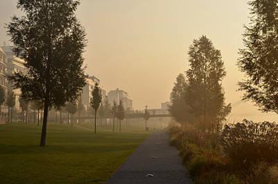 Photograph - Eurovea Park Bratislava by Marek Stepan