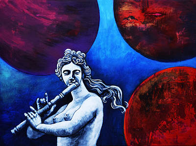 Euterpe And The Planets Art Print
