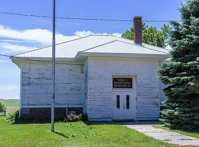 Photograph - Ev. Lutheran School by Edward Peterson