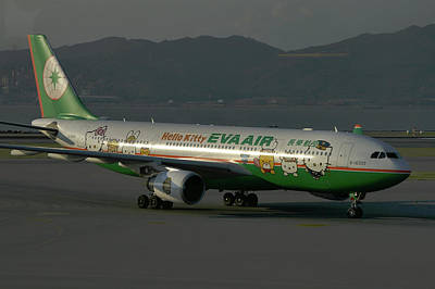 Art Print featuring the photograph Eva Air Airbus A330-203 by Tim Beach