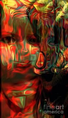 Mixed Media - Eva In Color by Fania Simon