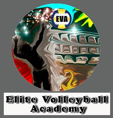 Digital Art - Eva Logo by Darren Cannell