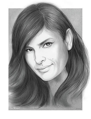 Drawing - Eva Mendes by Greg Joens
