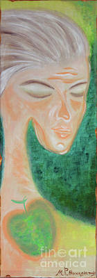 Painting - Eva On The Way To Rest by MarBak Treasures by Mary P Bakogiannis