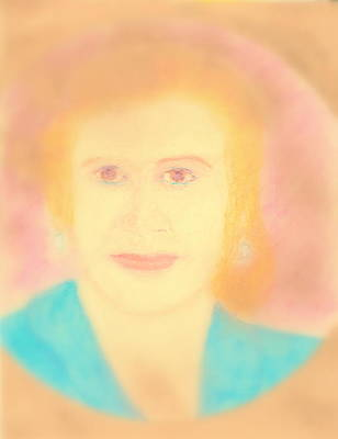 Painting - Eva Peron Soft Focus Gold by Richard W Linford