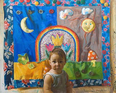 Victoria Painting - Eva. The Begining. by Victoria Kharchenko