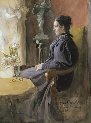 Painting - Eva Upmark by Carl Larsson