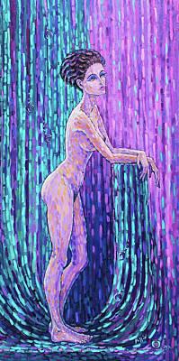Tantra Painting - Eva Violetto by Polina Ogiy