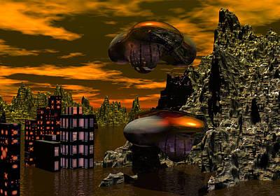 Digital Art - Evacuation  by David Lane