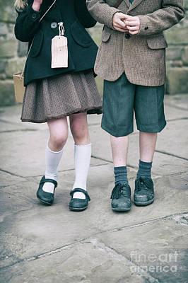 Photograph - Evacuee Children by Lee Avison
