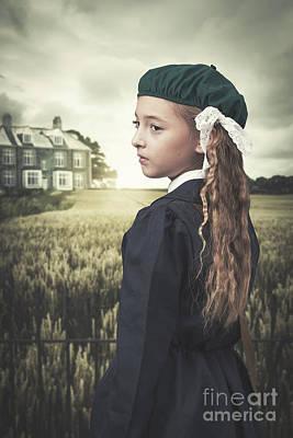 Old Houses Photograph - Evacuee Girl by Amanda Elwell