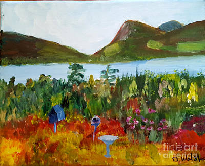 Painting - Evalines Garden by Donna Walsh