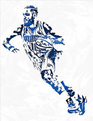 Orlando Magic Mixed Media - Evan Fournier Orlando Magic Pixel Art by Joe Hamilton