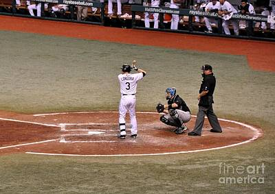 Photograph - Evan Longoria - At The Plate by John Black