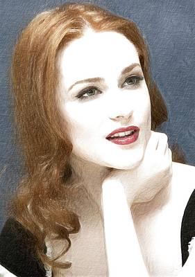 Hbo Digital Art - Evan Rachel Wood Portrait by Best Actors