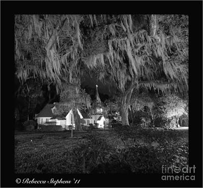 Coastal Georgia Photograph - Evangelical Church St Simons Island Georgia by Rebecca Stephens