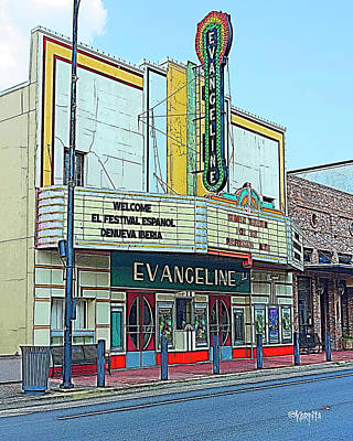 Photograph - Evangeline Movie Theater - New Iberia La by Rebecca Korpita