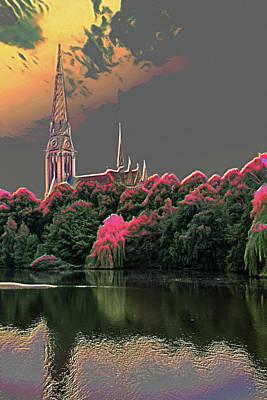 Hamburg Digital Art - Evangelisch-lutherische Kirchengemeinde Saint Gertrud by Colin Hunt
