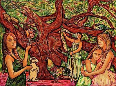 Drawing - Eve And Her Daughters by Michael Bish