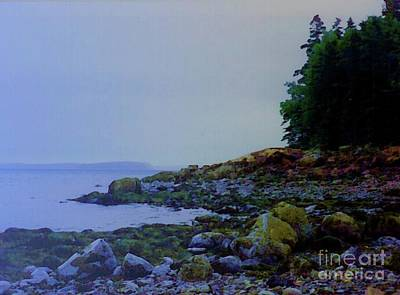 Coastal Maine Mixed Media - Eve At The Mount by Desiree Paquette