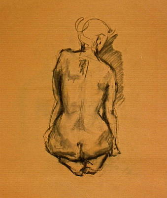 Male Nude Drawing Drawing - Eve by Chris  Riley