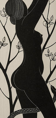 Black Sex Drawing - Eve by Eric Gill