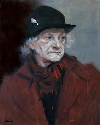 Painting - Eve In Red With  Black Hat by Robert Holden