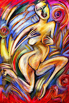 Eve In The Garden Art Print by Angelina Marino