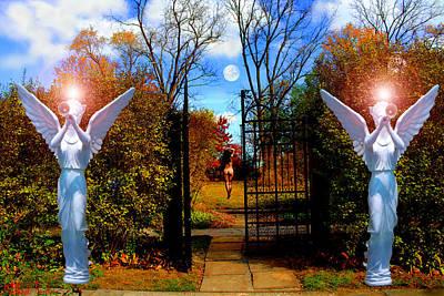 Religious Artist Digital Art - Eve In The Garden Of Eden by Michael Rucker
