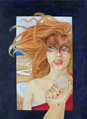 White As Snow Painting - Eve, My Daughter by Elise Aleman