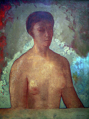 Female Painting - Eve by Odilon Redon