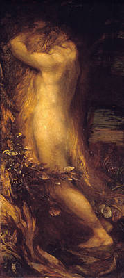Painting - Eve Repentant  by George Frederic Watts