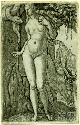 Painting - Eve With A Stag by Heinrich Alde Grave