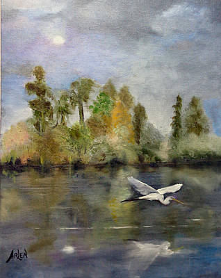 Painting - Eveing Flight by Arlen Avernian - Thorensen
