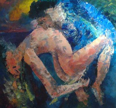 Annette Kinship Wall Art - Painting - Eveing Touch by Annette Kinship