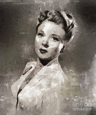 Evelyn Ankers, Actress Art Print by Mary Bassett