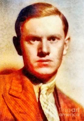 Literature Painting - Evelyn Waugh, Literary Legend by Frank Falcon
