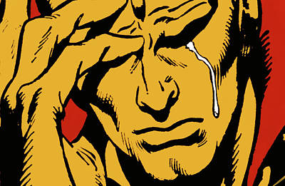 Comic Strip Photograph - Even An Android Can Cry by Brian Middleton