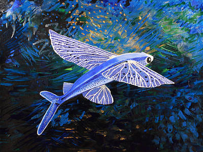 Painting - Even Fish Can Fly by Julianne Hunter