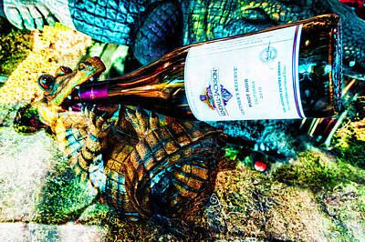 Photograph - Even Gators Love Their Pinot Noir by Frances Ann Hattier