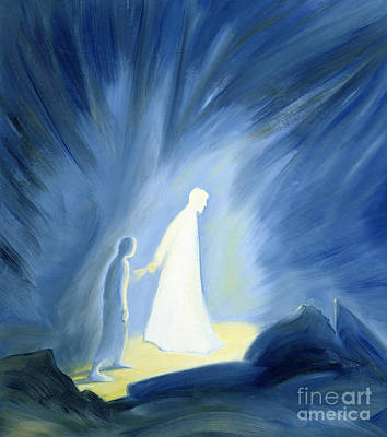 Caring Painting - Even In The Darkness Of Out Sufferings Jesus Is Close To Us by Elizabeth Wang