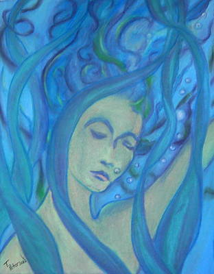 Painting - Even Mermaids Get The Blues by Todd  Peterson