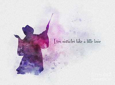 Even Miracles Take A Little Time Art Print by Rebecca Jenkins