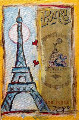 Cities Painting - Even Paris Loves Paris by Roxy Rich