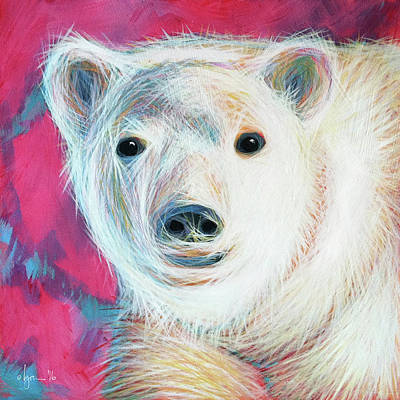 Painting - Even Polar Bears Love Pink by Angela Treat Lyon