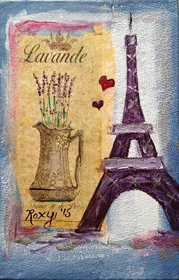 Painting - Even The Eiffel Tower Loves Lavender by Roxy Rich