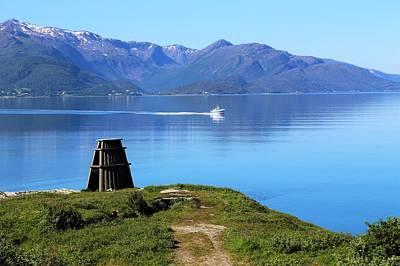Evenes, Fjord In The North Of Norway Art Print