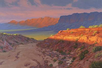 Arizona Painting - Evening Advances by Cody DeLong