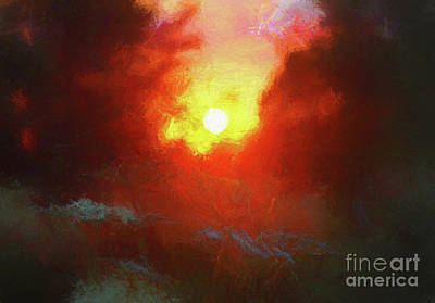 Mixed Media - Evening Afterglow by Helen White